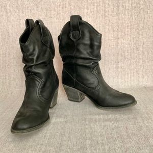 Rocketdog Sheriff Cowboy Ankle Boots Black 7